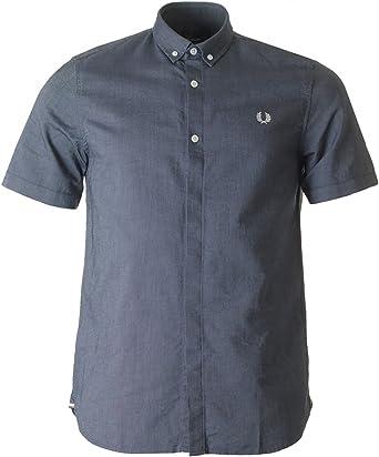Fred Perry - Camisa Oxford Classic para Hombre Color Carbon Oscuro: Amazon.es: Ropa y accesorios
