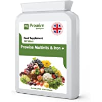 Multi Vitamine e ferro da 180 compresse (dose da 6 mesi) - Supplemento multi-vitaminico giornaliero da un giorno - Prodotto nel Regno Unito con qualità garantita GMP - Adatto per i vegetariani