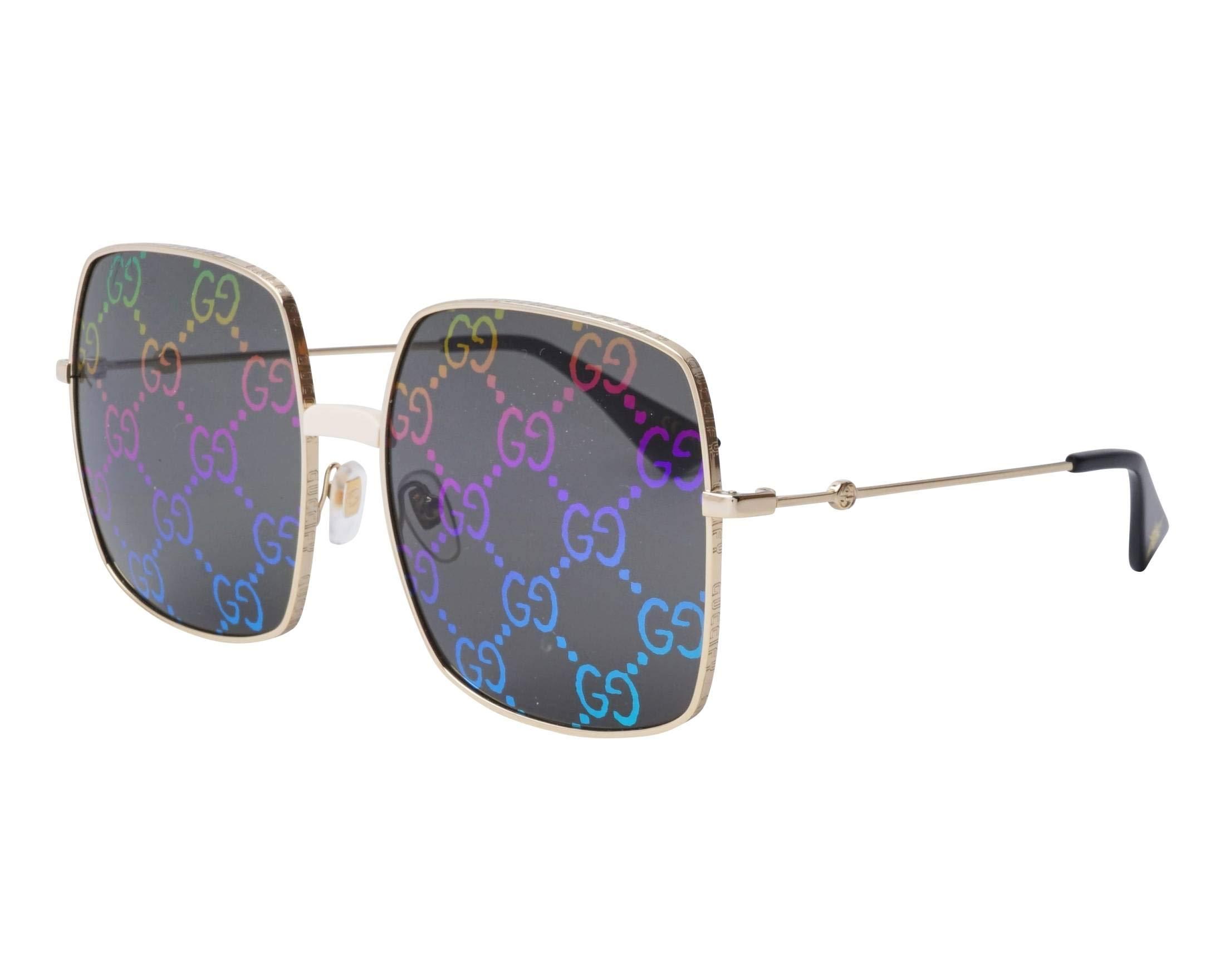 Sunglasses Gucci GG 0414 S- 003 GOLD/MULTICOLOR by Gucci