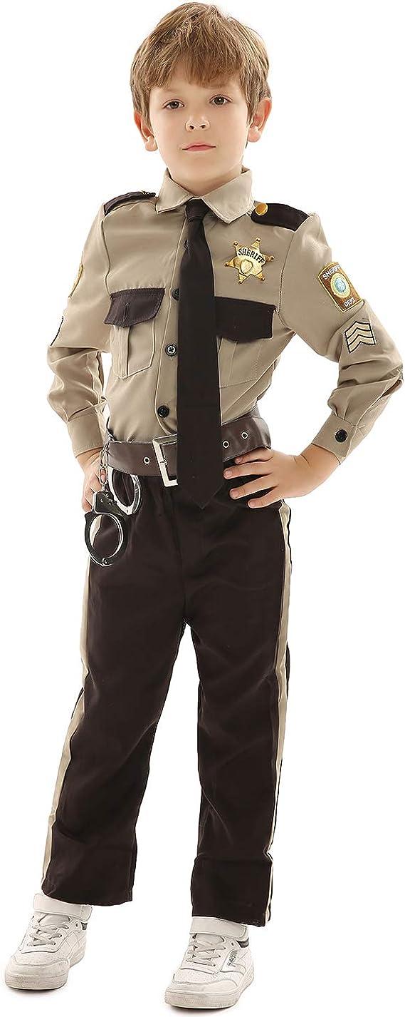 POLICEMAN POLIZIOTTO Elias Costume per bambini-polizia legge fasullo Travestimento
