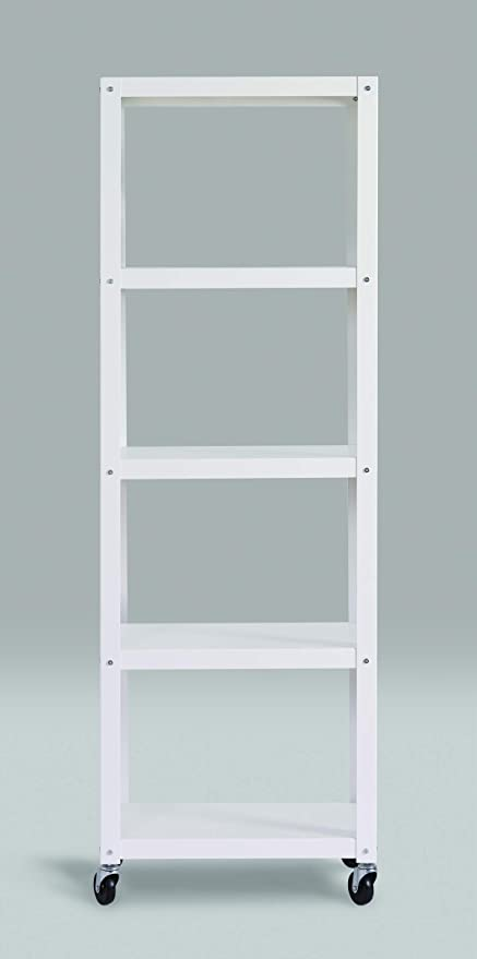 Office Dimensions 72u0026quot; High Mobile Metal Open Bookcase, 5 Shelf   Home  Office Collection