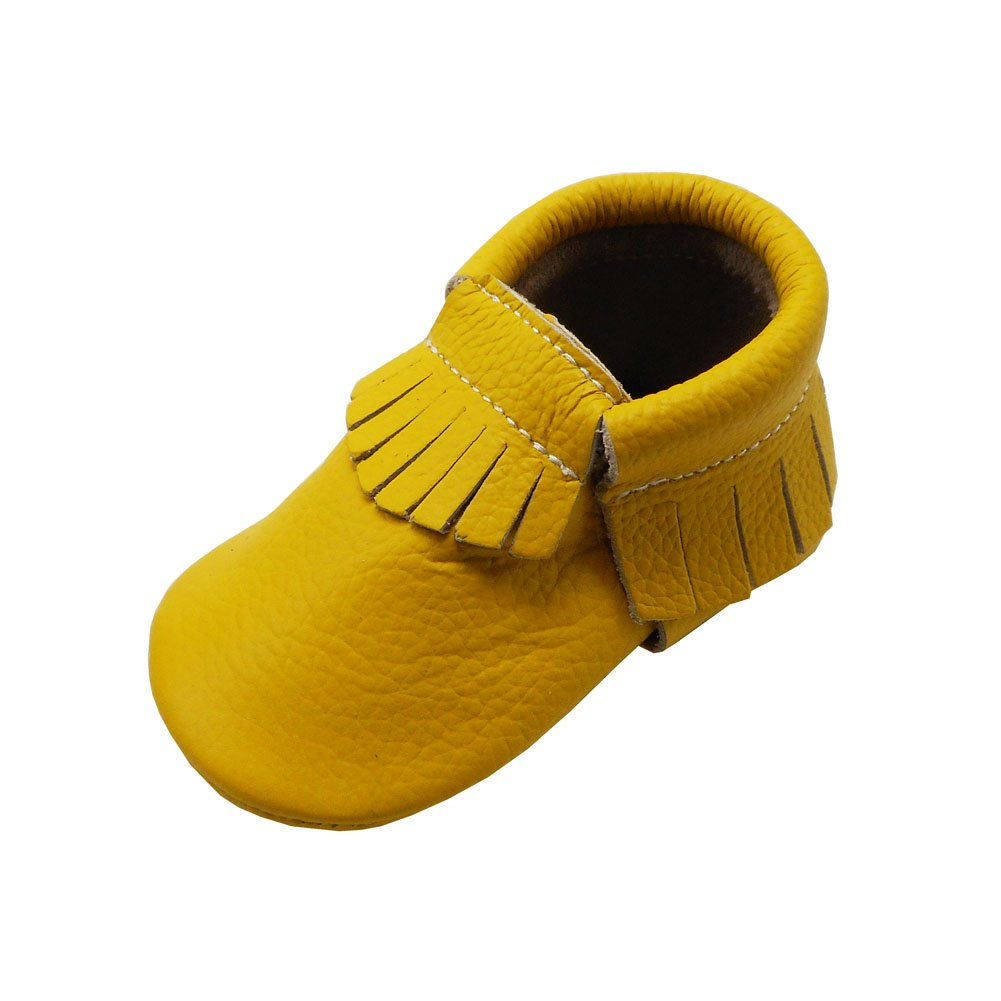 bd112f962174a YIHAKIDS Baby Tassel Shoes Soft Leather Sole Infant Kids Crib ...
