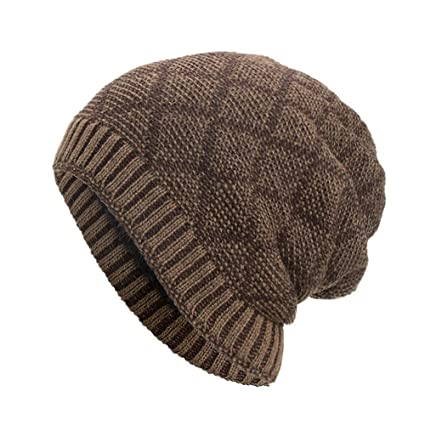 61277d15a83 Amazon.com - SUKEQ Beanie hat for Men and Women Winter Warm Cable ...
