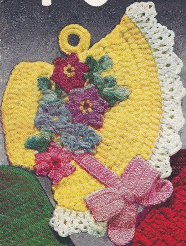 ERN to make - Pot Holder Fancy Easter Bonnet. NOT a finished item. This is a pattern and/or instructions to make the item only. (Free Crochet Patterns Pot Holders)