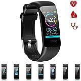 """BONKEEY SmartWatch Pulsera Inteligente Bluetooth Impermeable IP67 Multifuncional Reloj Inteligente Deportivo, 1.14"""" Dinámica de Color Pantalla Smartband, Monitor de Actividad Rastredor de Fitness para Mujeres y Hombres"""