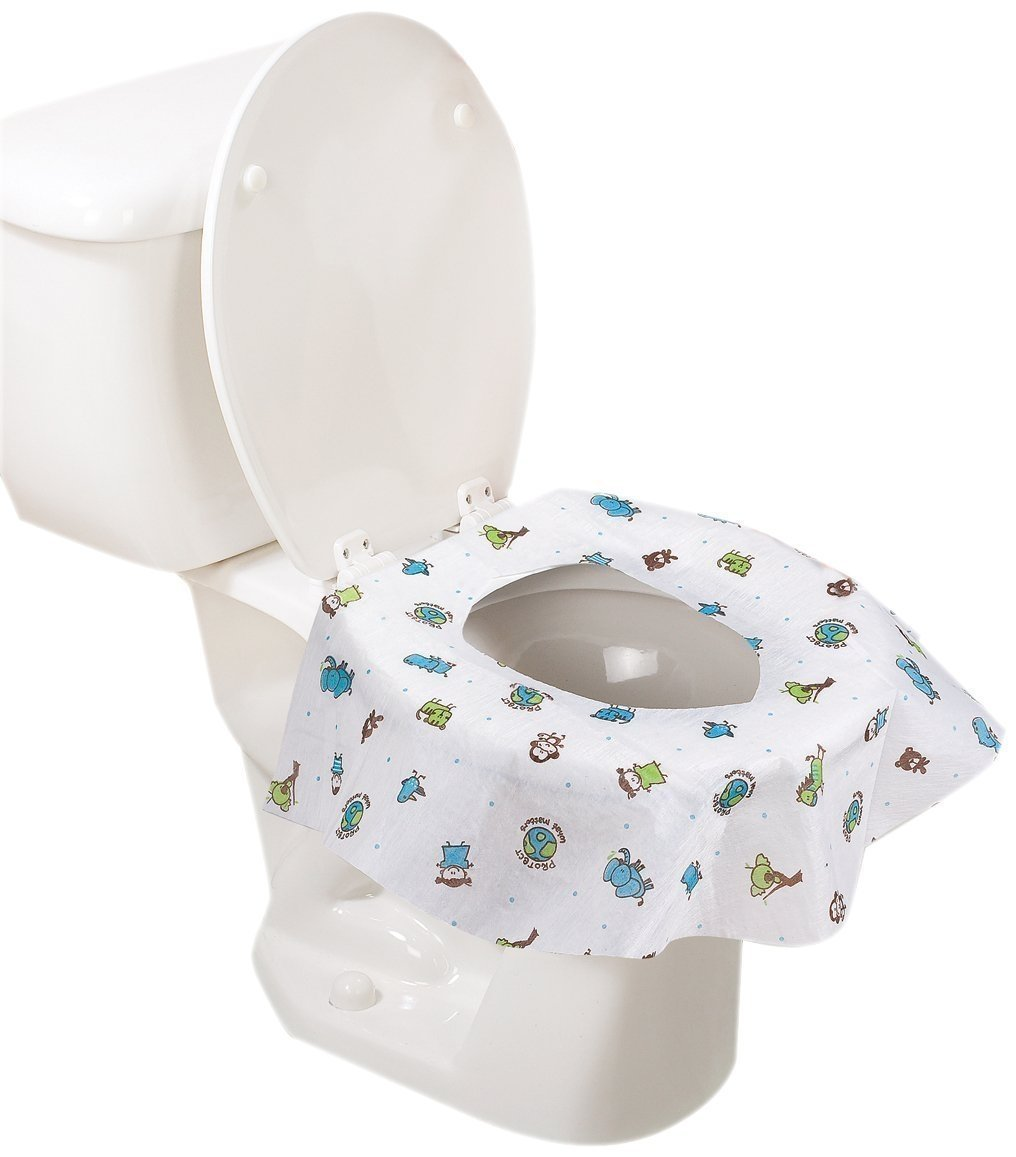 45 Count Summer Infant Keep Me Clean Disposable Potty Protectors Green//White