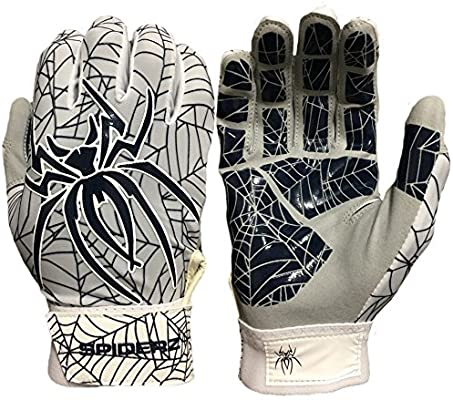 Red//Black SMALL Web Tac Palm Spiderz HYBRID Batting Gloves