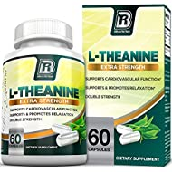 BRI Nutrition 200mg L-Theanine Enhanced with 100 mg of Inositol - 60 Count 200mg L Theanine Veggie Capsules
