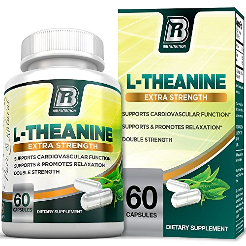 BRI Nutrition 200mg L-Theanine Enhanced with 100 mg of Inositol – 60 Count 200mg L Theanine Veggie Capsules
