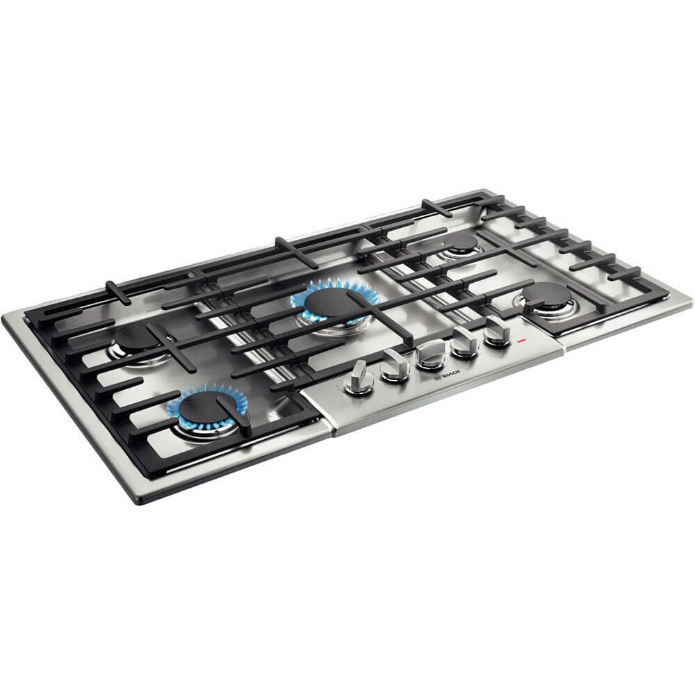 Bosch NGM8656UC 800 Series 36 Stainless 5 Burner Gas Cooktop