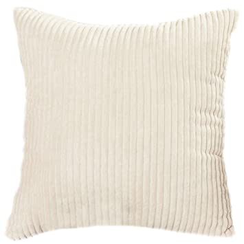 Famibay Throw Pillow Cover 24x24 Striped Corduroy Cushion Cover for Sofa Pillow Case Covers with