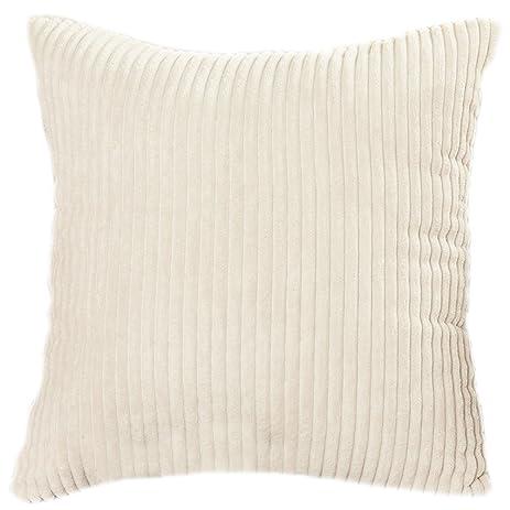 Amazon Famibay Throw Pillow Cover 24x24 Striped Corduroy