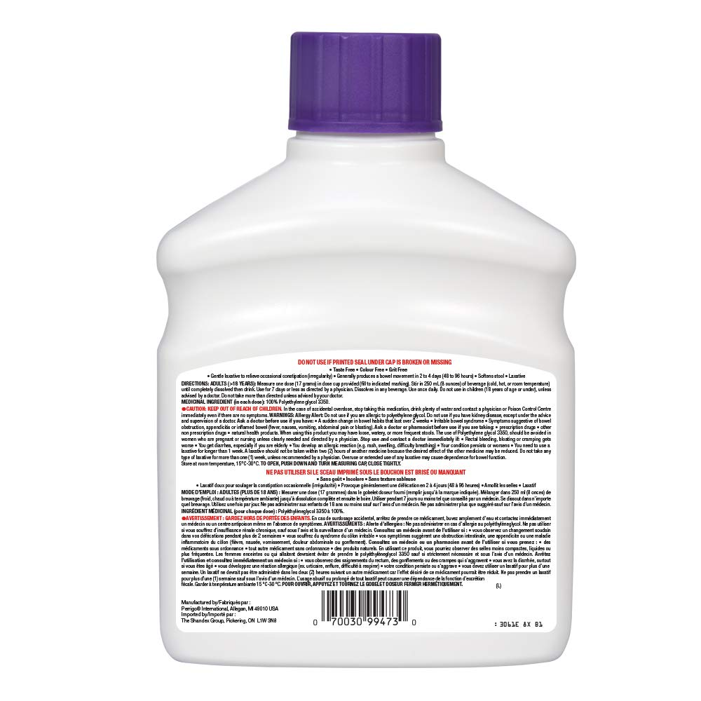 Basic Care Polyethylene Glycol 3350 Powder, 765 Grams