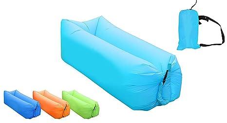 AB VOLTS Tumbona inflable rápida portátil para interiores y ...
