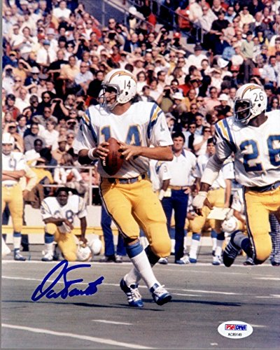 Dan Fouts Autographed Signed San Diego Chargers 8x10 inch Photo PSA/DNA Authentic (Autographed Chargers Fouts Dan)