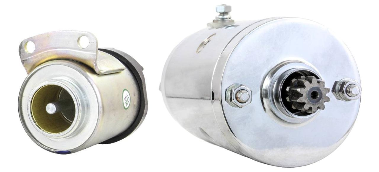 NEW CHROME STARTER AND SOLENOID FITS HARLEY ELECTRA GLIDE SPORT FLHS 1977 1980-1983 71469-65B 7146965B