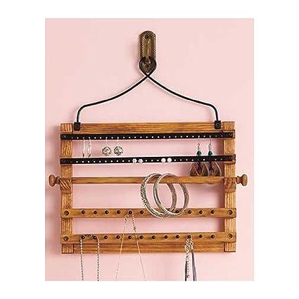 Amazoncom Wooden Bohemian Design Jewelry Hooks Storage Hanging