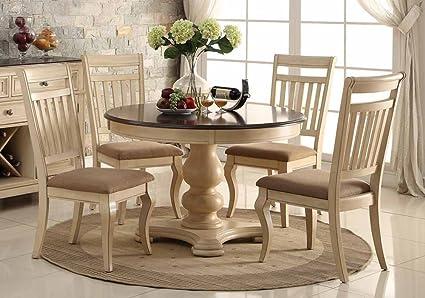 Amazon.com: 1PerfectChoice 5 pcs Elegant Dining Round Table Set ...