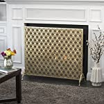 Elmer Single Panel Gold Iron Fire Screen from Great Deal Furniture