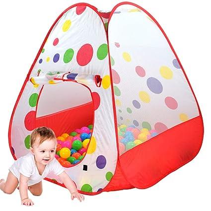 con Bolas Piscina Tienda para Niñas Niños 1 Bebé KINDOYO Infantil Tienda campaña Rojo+50 Bolas