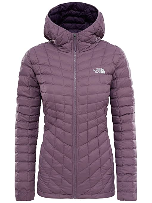1cd6ddefeacf The North Face Water Resistant Thermoball Women s Outdoor Hooded Jacket  available in Black Plum - X