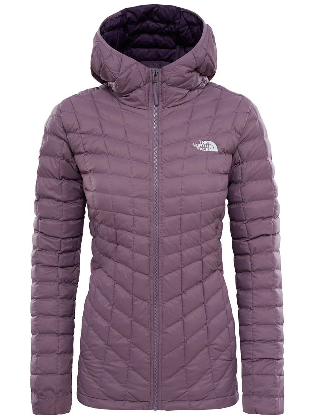 The North Face W Thermoball Hoodie Chaqueta, Mujer, Violeta (Black Plum),