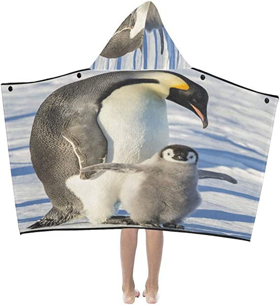 Sofa Throw Blanket Adult Emperor Penguin With Chick Exercising Wings Kids Hooded Blanket Bath Towels Throw Wrap For Toddler Child Girl Boy Home Travel Sleep Blanket Kids Amazon Ca Clothing Accessories