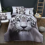 HHXQXB Bed Linen Hypoallergenic Bedding 3D Printed Set Fine Fabric Bedding Set with Year Round Duvet Zipper Bed Cover150210 cm + Bed Sheet 160230 cm, 2 Pillow Cover5075cm