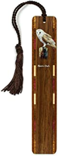 product image for Barn Owl (Double Sided) Wooden Bookmark with Tassel - Search B07WN2LVRD for Personalized Version