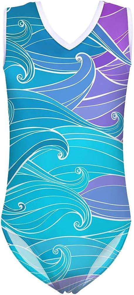 FUIBENG Girls One Piece Swimwear Swimming Suits Water Resistant Ocean Style Beachwear Bathing Suit Leotards