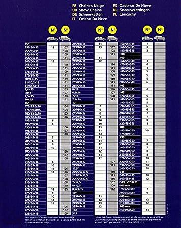 Cadenas de Nieve Michelin / A 000 105 / 1 MX N5 / Cadenas de nieve en X patter / 1 par