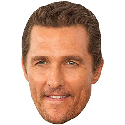 Amazon Matthew Mcconaughey Celebrity Mask Card Face And Fancy