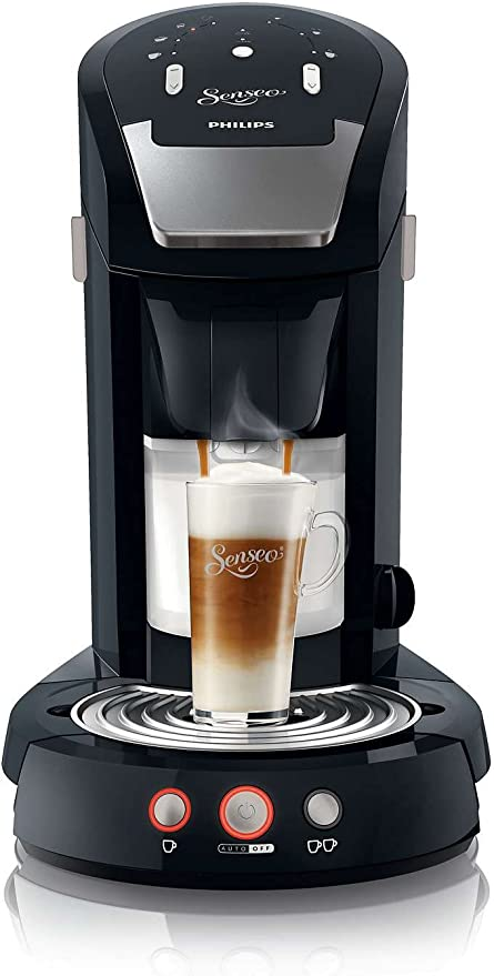 Philips Senseo Latte Select - Cafetera monodosis, color negro ...