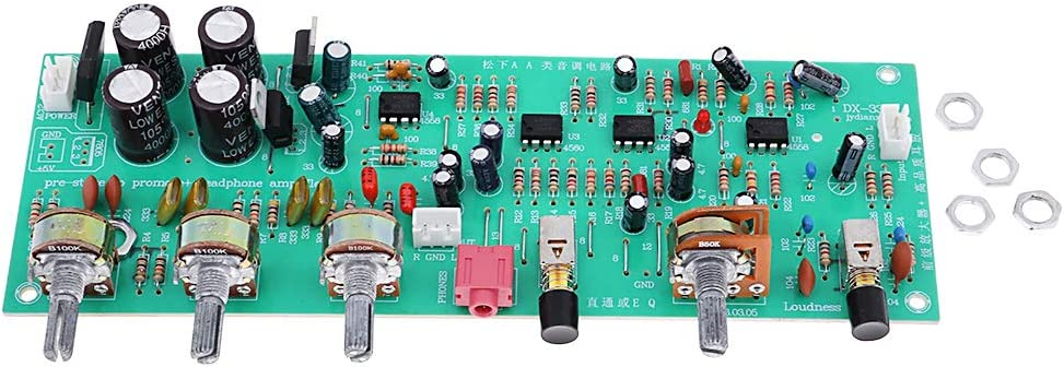 perfk Tablero de Control de Volumen de Preamplificador Placa de Circuito Bajo Nivel de Ruido HiFi Audio Estéreo
