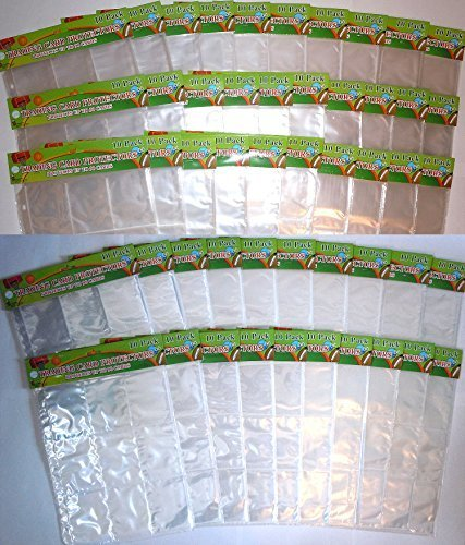 Trading Card Protector Sheets 9 Pocket X 500 Plastic Pages Holds 4500 Cards -3 Ring Binder by Good Old Values