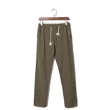 5856d44a68 Summer Linen Casual Pants Men Breathable Thin Flax Trousers Sweatpants Blue  Male Cotton Pants,UMA345