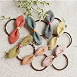 usongs Bullhead - imports sweet Sen Department original hit color washed cotton bow hair ring hair rope