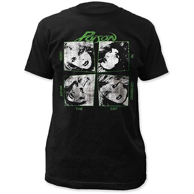 Veneno - - Mira lo que el gato arrastrado en sábana bajera Jersey camiseta Negro negro: Amazon.es: Ropa y accesorios