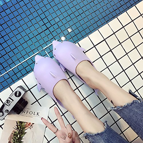 indoor home of kids summer men and for female Slippers bath family baths Purple cool couples a slip home 36 slippers 35 slippers three anti fankou t0fqx