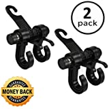 Deezio RR-12-9-9 Upgraded Car Back Seat Headrest Holder Hooks, Purse hooks for car, Vehicle Storage Organizer, Universal Fit for All Cars to Hang Groceries, Bags, Clothes (Pack of 2)