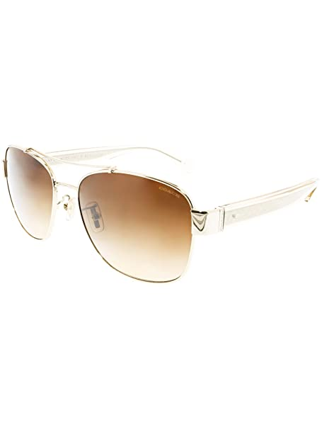 659156b886e07 Coach HC7064 L151 926513 Light Gold Crystal Light Brown Aviator sunglasses