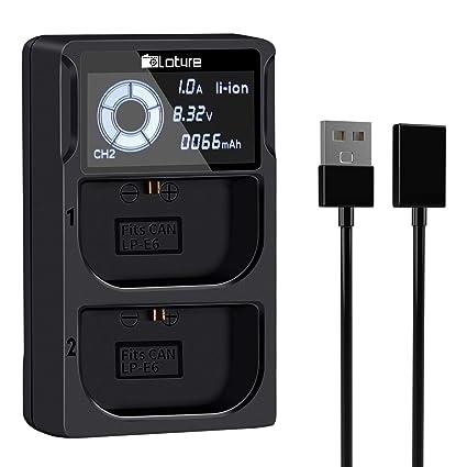 Cargador de batería LP-E6 para cámaras Canon EOS 5D Mark II III IV ...