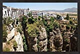 Spain, Andalusia, Malaga Province Hillside town of Ronda by Julie Eggers / Danita Delimont Framed Art Print Wall Picture, Espresso Brown Frame, 40 x 27 inches