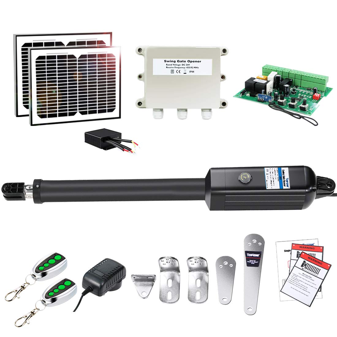TOPENS A8S Automatic Gate Opener Kit Heavy Duty Solar Single Gate Operator