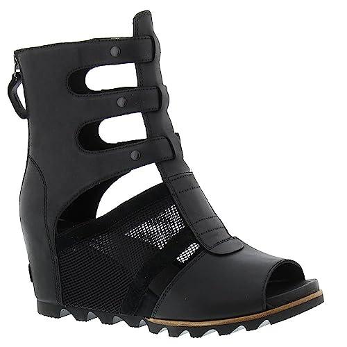 8eac60a3bf8 Sorel Joanie Gladiator Sandal - Women s Black 11  Amazon.ca  Shoes ...