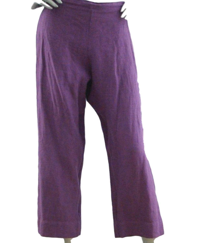 Bryn Walker Linen Capri Pants X-Large Foxglove Purple