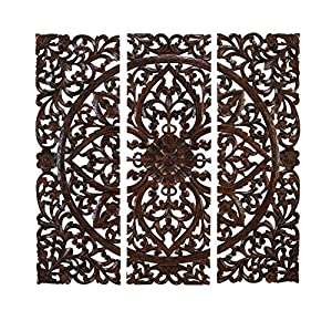 elegant wood carved decorative wall art plaque - Decorative Wall Art