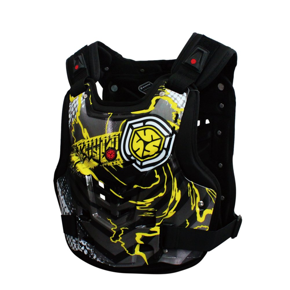 A.B Crew Motorcycle Body Armor Adult Street Bike Chest Protector Off-Road Dirt Bike Vest Protector by A.B Crew (Image #1)