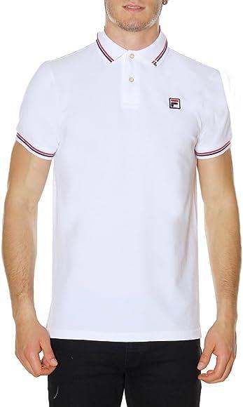 Fila 392000 Polo Basic Polo Hombre White L: Amazon.es: Ropa y ...