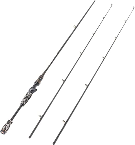 Entsport E Series – Camo Legend 2-Piece 7-Feet Casting Rod 24 Ton Carbon Fiber Baitcasting Fishing Rod with 2 Tips – Medium and Medium Heavy Portable Baitcast Rod Bass Fishing Rod Baitcaster